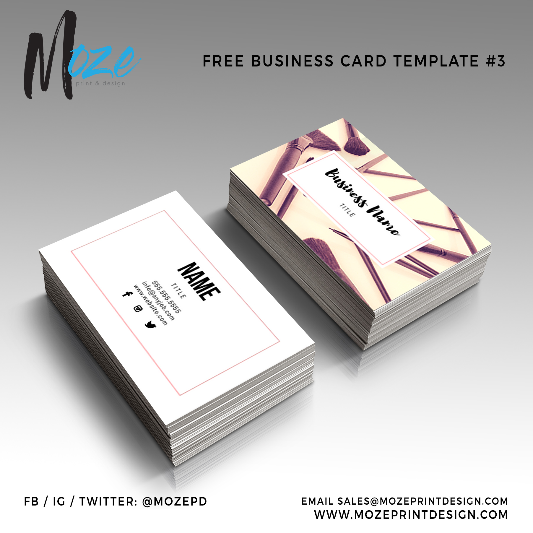 1000 business cards template 3 colourmoves